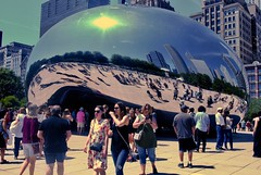 The Bean Up Closer (mahteetagong) Tags: chicago nikon d80 tokina1224mmf4 millennium park bean cloudgate sculpture