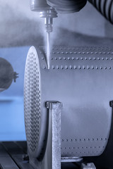 Deep drilling of a silicon carbide block - Tieflochbohren eines Siliziumkarbidblocks (GAB Neumann) Tags: machining drilling blockheatexchanger heatexchanger block carbide silicon sic gabneumann neumann gab ingenieurkeramik fct fctingenieurkeramik