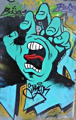 Neerpede pylon art. (Linda DV) Tags: lindadevolder lumix geotagged belgium brussels 2018 ribbet panasonic colour colours urbanart urbanculture city europe capitalcity mural fresco neerpede pylons ringway highway mariusrenard anderlecht streetarthalloffame