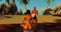 LaZy DaZe Surf Beach - Adam and Kristi (Kristi__Renae) Tags: beach surf wave summer sexy tropical sand water boards bikini thong palms
