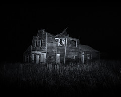 Things that go bump, in the night. (L/\\\/RENCE) Tags: abandoned northdakota nightshot lightpainting longexposure canon haunted hauntedhouse blackandwhite