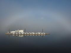 diffused (janicelemon793) Tags: burrardinletportmoody fog mist julymarinefog water inlet marina boats morning minimalist serene calm reflections halo wharf floating afloat sea ocean