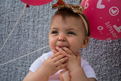 Baby Zayla-20 (Andy barclay) Tags: baby happy birthday 1st toddler girl cake smash one first smile messy portrait young pink