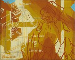 Iris Can Opener (Marc Bosworth) Tags: marcbosworth artist wichita kansas painting mixedmedia acrylic foundobjects collage printmaking lino linoleumblock reliefprinting collagraph screenprint