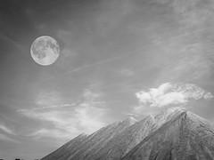 . (michaelwalker19) Tags: desert moon blackandwhite blackandwhitedeathvalley sandunes