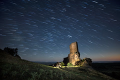 Star Trail at Castillo de Zafra - Game of Thrones (Alex Pastor Opris) Tags: night nightscape landmark landscape stars star trail astro astrophotography castle canon canon6d milky way milkyway light painting lightpainting tower famous place spain guadalajara abandoned
