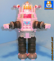PINK ROBBY ROBOT by JOE (baronsat) Tags: robby robot lego custom instructions forbidden planet lost in space model scifi classic movie moc pink version