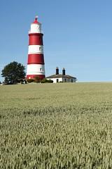 A trip out in Norfolk (Baba Adrian) Tags: nikon ais manual oldschool norfolk 50mm f18 sooc d750 lighthouse redandwhite happisburgh barleyfield