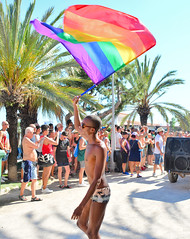 Rainbow flag (M McBey) Tags: flag rainbow lgbt sitges spain pride marcher march parade