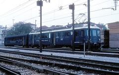 ET 17  Kreuzlingen  15.10.77 (w. + h. brutzer) Tags: kreuzlingen webru analog nikon eisenbahn eisenbahnen train trains schweiz switzerland railway triebwagen triebzug et lokomotive locomotive
