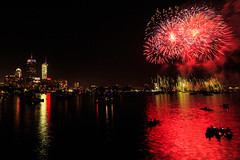 Boston, 4th July, 2018 (chris_brearley) Tags: 4july backbay boats boston celebration charlesriver citgo fenway fireworks independenceday july4 kayaks night prudential prudentialcenter river travel travelphotography