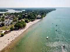 Lakeside Park from the air 2 (J-a-x) Tags: stcatharines ontario canada lakeontario portdalhousie greatlakes beach lakesidepark