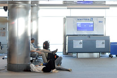 Passing the time (radargeek) Tags: den denver airport travel united colorado travelers traveler kid kids children teenager
