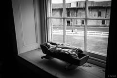 Fort Delaware (Jen MacNeill) Tags: fort delaware civilwar era history historic site american us usa blackandwhite bnw doll window child children