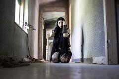 Despair (diego_russo) Tags: diegorusso gothic goth gothgirl gothicgirl balckmetal blackmetalgirl borchie stud despair disperazione disisperu sanleonardo dark gruesome macabre cry lacrima tiltshift