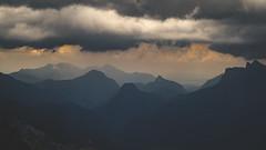 Event Horizon (der_peste (on/off)) Tags: summit summits alps mountains bavarianalps berchtesgadenerland berchtesgaden salzburg lofer austria loferersteinberge sky clouds horizon peaks layers layer landscape layeredlandscape