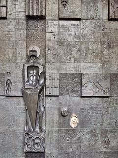 Puerta de Sant Jordi en el Palacio de Lloctinent, Barcelona, España