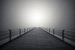 Into nowhere (adam_reynolds) Tags: fog mist ocean northsea north sea saltburn pier