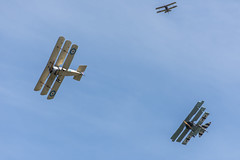 Dogfight (GWDT) (StevePilbrow) Tags: great war display team dogfight vintage aircraft fokker classic sports car show flywheel festival raf bicester heritage centre june 2018 nikon d7200 nikkor 70300mm