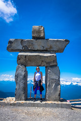 Tracey and her Inukshuk pose