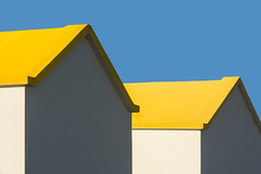 Two yellow roofs (Jan van der Wolf) Tags: map181121ve two yellow geel houses huizen fuerteventura roofs dak architecture architectuur white wit
