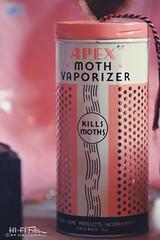 moth vaporizer (Hi-Fi Fotos) Tags: apex moth vaporizer kills moths dead pink can spray vintage product metal retro antique tin 1960s nikkor 105mm micro nikon d7200 dx hififotos hallewell