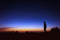 La nuit (KRAMEN) Tags: étoiles atardecer hora azul sunset dark sky blue heaven estrellas nuit darkness silhouette silueta