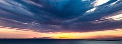 Skies on fire (HarrisGkioulistanis) Tags: clouds sunset sea mountains islands athens greece south dusk blue gold yellow orange purple biggest day year water saronikos gulf landscape sky