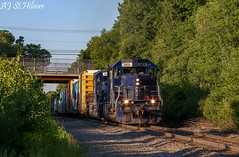 3400s at 245 (Scoop Jr) Tags: panam sd402 dover nh boxcars freight