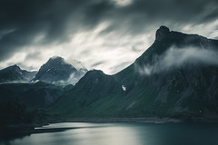 Moody Mountains (raimundl79) Tags: wow wolke weather wanderlust wasser water explore exploreme entdecken explorer earth erde d800 digital sky see fotographie flickrr flickrexploreme foto tamron2470mm 7dwf 2470mm bestpicture beautifullandscapes berge image instagram photographie perspective panorama austria alpen arlberg lightroom landschaft landscape ländle langzeitbelichtung longexposure lake myexplorer mountain nikon nikond800 new vorarlberg view cloud clouds cloudporn