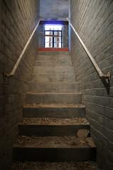 Outside (nedlugr) Tags: basement staind outside california ca carrizoplain carrizoplainnationalmonument usa stairs steps light rail brickwall omot