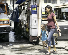 Walking (Beegee49) Tags: street mother daughter walking bus depot libertad bacolod city philippines