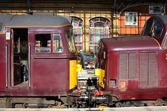 Sulzer v English Electric (Chris Baines) Tags: wcr 33207 35516 preston station scarborough spa express