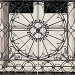 One of two wrought iron balcony railings, the Confederate Home, Broad Street, Charleston, SC thumbnail