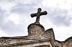 Detail from a cemetery in Catalonia (Linda Halvorsen Fotografi) Tags: cross church christendom cemetery graveyard architecturaldetail
