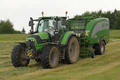 Deutz Fahr Agrotron 6190 TTV Tractor with a McHale Fusion 3 Baler & Wrapper (Shane Casey CK25) Tags: deutz fahr agrotron 6190 ttv tractor mchale fusion 3 baler wrapper green df sdf samedeutzfahr deutzfahr castlelyons traktor traktori trekker tracteur trator ciągnik silage silage18 silage2018 grass grass18 grass2018 winter feed fodder county cork ireland irish farm farmer farming agri agriculture contractor field ground soil earth cows cattle work working horse power horsepower hp pull pulling cut cutting crop lifting machine machinery nikon d7200