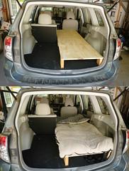2012 Forester 1-Person Sleeping Platform (softroadingthewest.com) Tags: sh forester subaru camping sleepingplatform carcamping