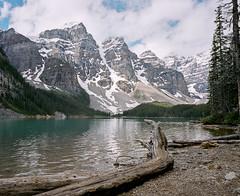 Moraine Lake (@davidflem) Tags: morainelake alberta canada mamiya7 banff 50mm kodak portra400 120film 6x7 mediumformat filmphotography istillshootfilm