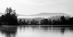 Pennesseewassee Lake, Norway, Maine (jtr27) Tags: dscf9849xl jtr27 fuji fujifilm fujinon xc 50230mm f4567 ois oisii pennesseewassee lake norway maine morning fog mist blackandwhite landscape newengland bw nb