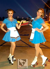 Roller Skates Car Hops (SDSpotlightEnt) Tags: roller skates skating car hop 50s waitress servers event party entertainment greeters dancers los angeles hollywood san diego palm springs desert spotlight 1950s theme