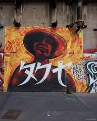 IMGP5496 Orange and red (Claudio e Lucia Images around the world) Tags: milano murale murales graffito graffiti street streetart muro wall ferrovia railway pentax pentaxk3ii sigma sigma1020 pentaxart sigmaart city urban lotta doba viaviotti lambrate orange red portrait