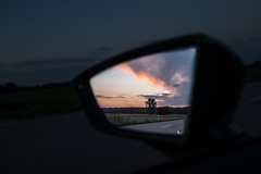 Look into the rearview (Bauer Florian) Tags: sony ilce7rm2 fe 1635mm f4 za oss car sunset sunrise sky ngc
