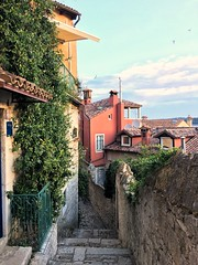 Early morning Rivinj old town streets (da's art) Tags: sunrise rovinjoldtown rovinj snapseed photo iphoneography iphone
