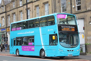 ARRIVA north east 7636 YJ61 OBK