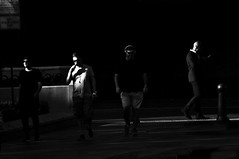The Fab Four !!! (imagejoe) Tags: street strip vegas nevada black white photographs photos shadows reflections tamron people nikon