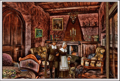 past times - victorian family (sw2018) Tags: art victorian old dogs home