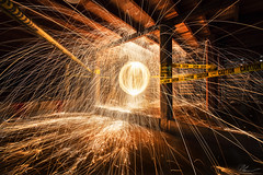 UnderGround (PhilPhotosity) Tags: awesome wow steelwool spin spinning sparks fire cool steelwoolphotography underground rad nikon longexposure