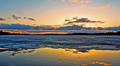 Fire & Ice (Bob's Digital Eye) Tags: april2018 bobsdigitaleye canon canonefs1855mmf3556isll clouds flicker flickr frozenlake h2o ice laquintaessenza lake lakesunsets lakescape skies sunset sunsets t3i water winter winterinmn wintersunset sky