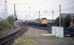 Mossend 26014 25apr90 c328 (Ernies Railway Archive) Tags: mossendyard cr lms scotrail