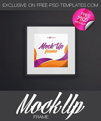 Free Frame Mock-up in PSD (Mockupfree.co) Tags: mockup free product mockups frame wall photo glass wood presentation showcase squareframe